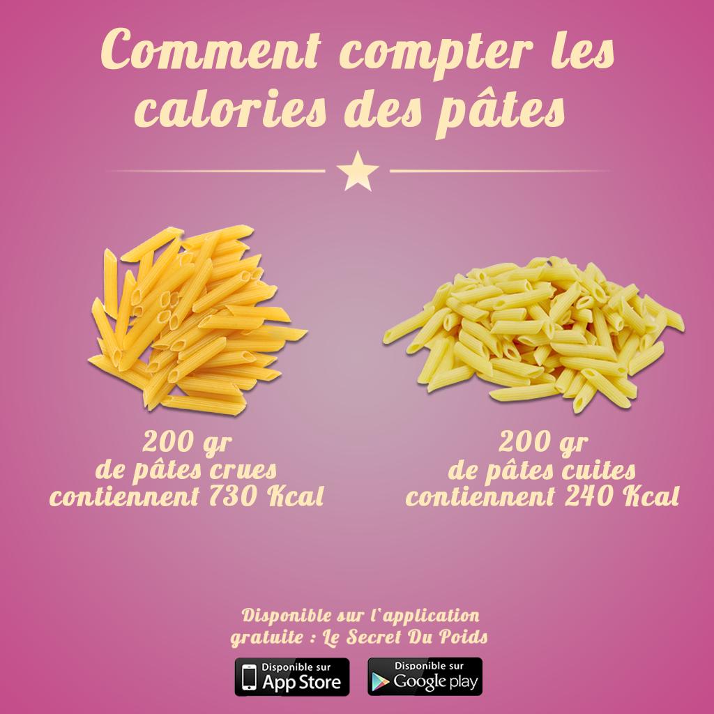 Comment compter les calories des pâtes crues ou cuites par ...
