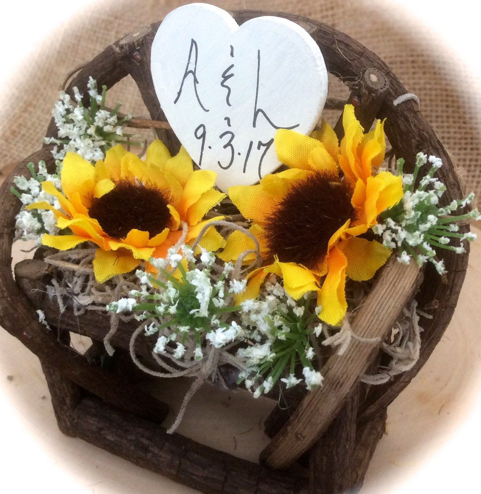 Rustic Country Sunflower Twig & Vine Pretty Personalized
