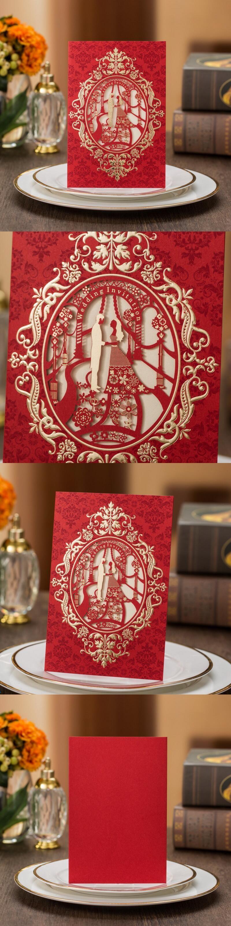 Fashion Wedding Invitation Cards Hollow Paper Frame Church Style ...