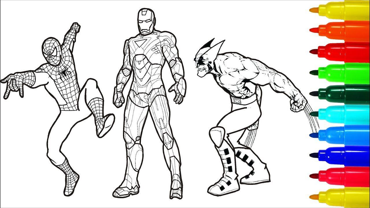 Spiderman And Ironman Coloring Pages on a budget