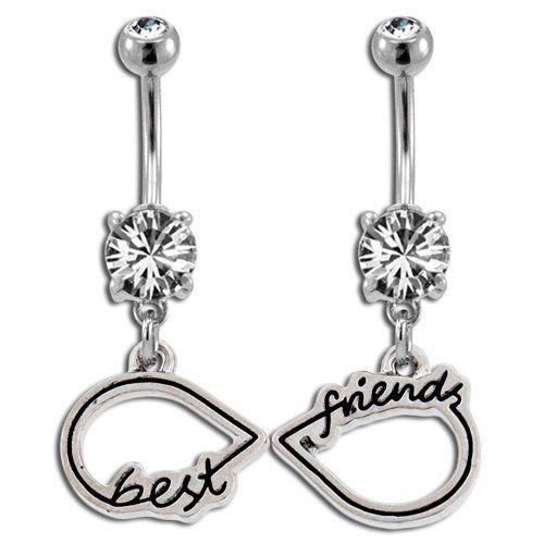 best friends infinity symbol belly ring body jewelryhttp