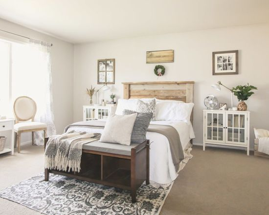 Inspiration For A Farmhouse Bedroom Remodel In Other With