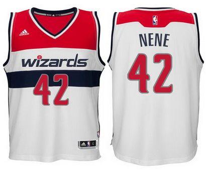 ce47154568d3 Washington Wizards  42 Nene Hilario New Swingman White Jersey ...