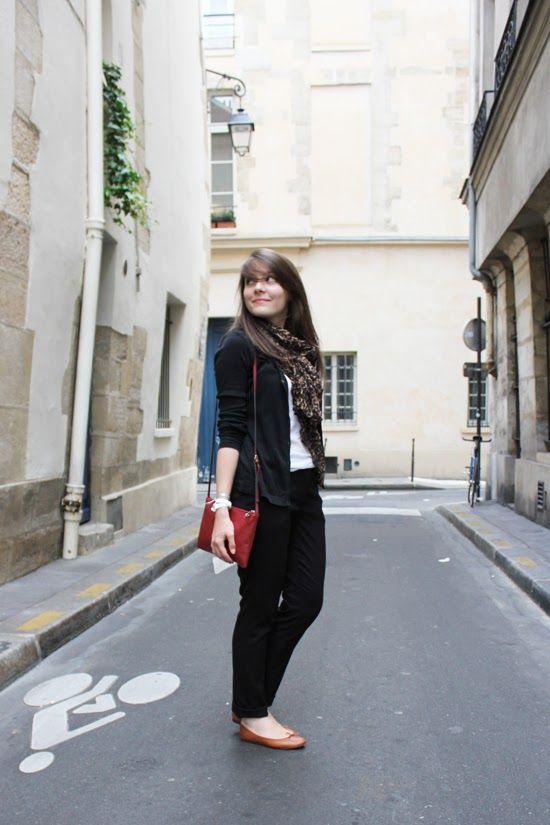 C B C M G - Petit Bateau cardigan - H pants - Zara scarf and tshirt - Mango bag - Repetto ballerinas