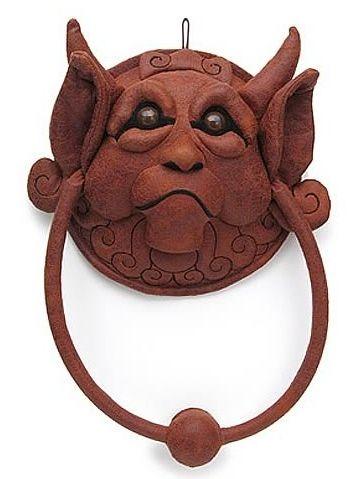 Labyrinth door knocker -- myth gargoyle | 09. Door ...