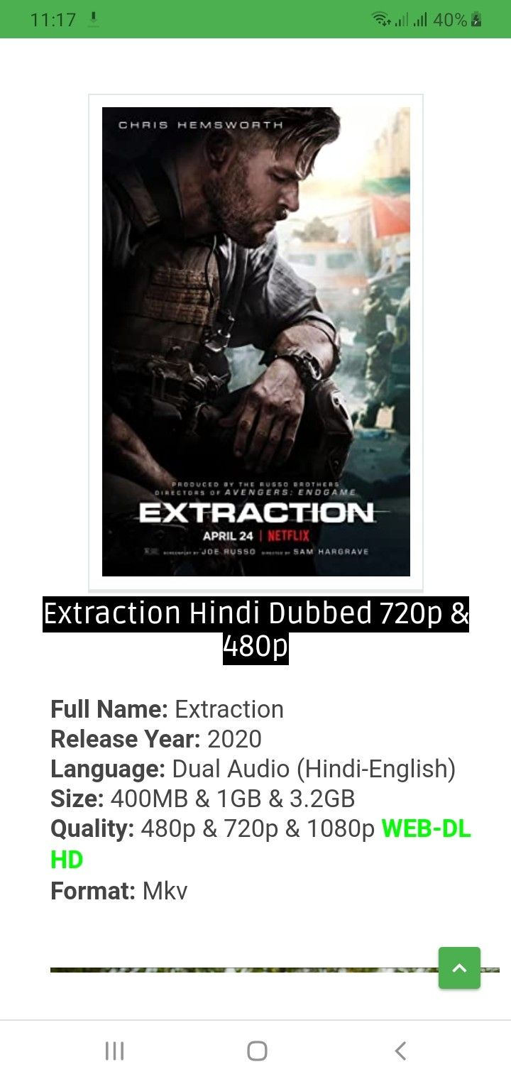 Extraction Hindi Dubbed In 2020 Hindi Dubbed Download Movies