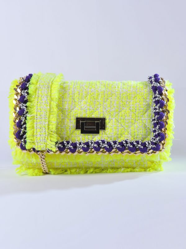 MSGM - Borsa tweed gialla | Di Pierro http://www.dipierrobrandstore.it/product/2450/Borsa-tweed-gialla.html