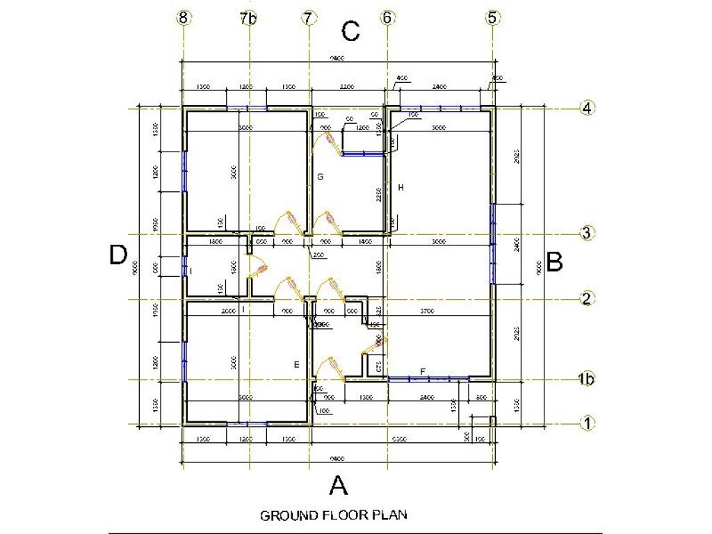 Concrete Foundation Plans Simple Building Plan Block Floor Small Houses Picture Note House Small House Pictures Simple Building House Layout Plans