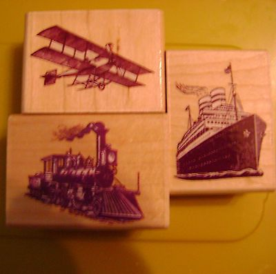 Set of 3 vintage transport rubber stamps   eBay
