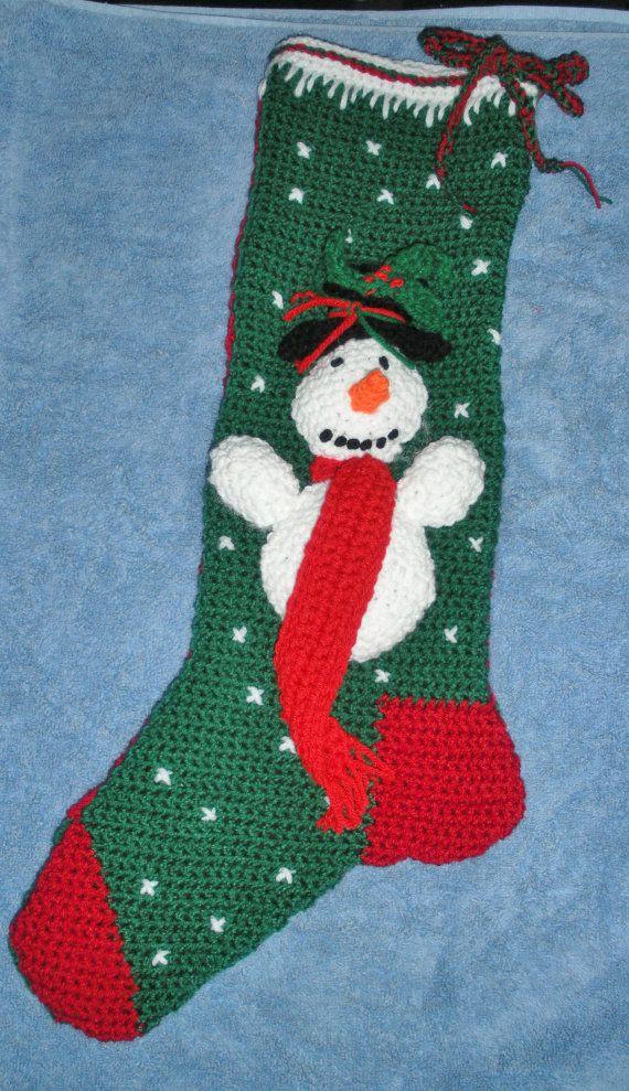 Snowman stocking on etsy $79.99