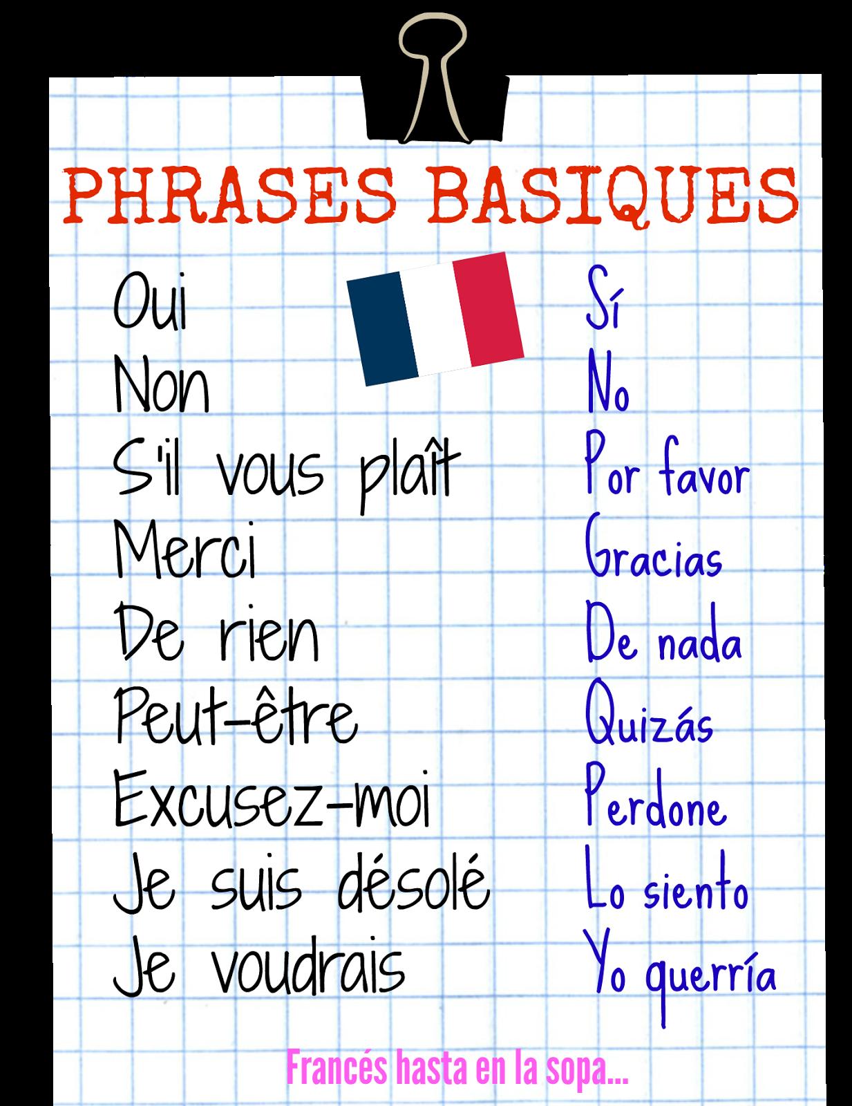 Resultado de imagen de activités basiques français