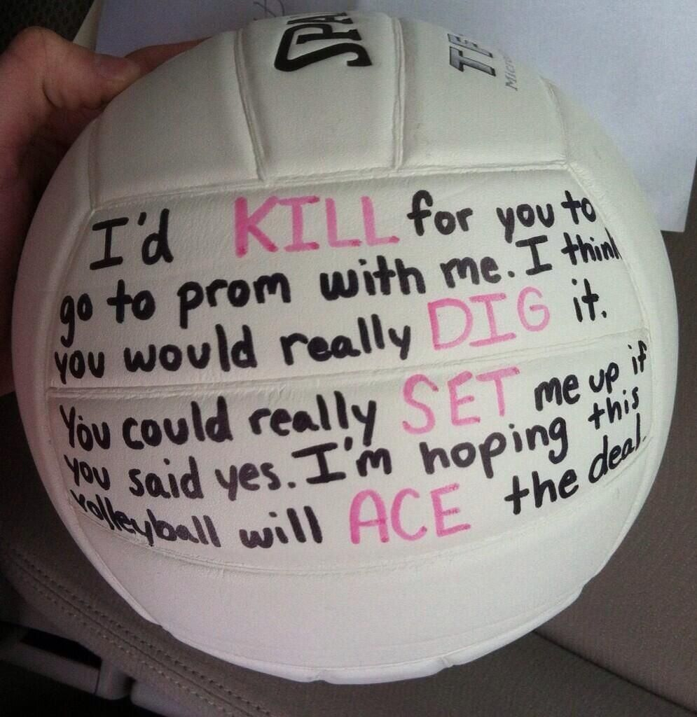 Volleyball Player Promposal So Cute For The Sporty Girl Prom Yesssssss This Needs To Happen Volleyball Posters Volleyball Players Volleyball