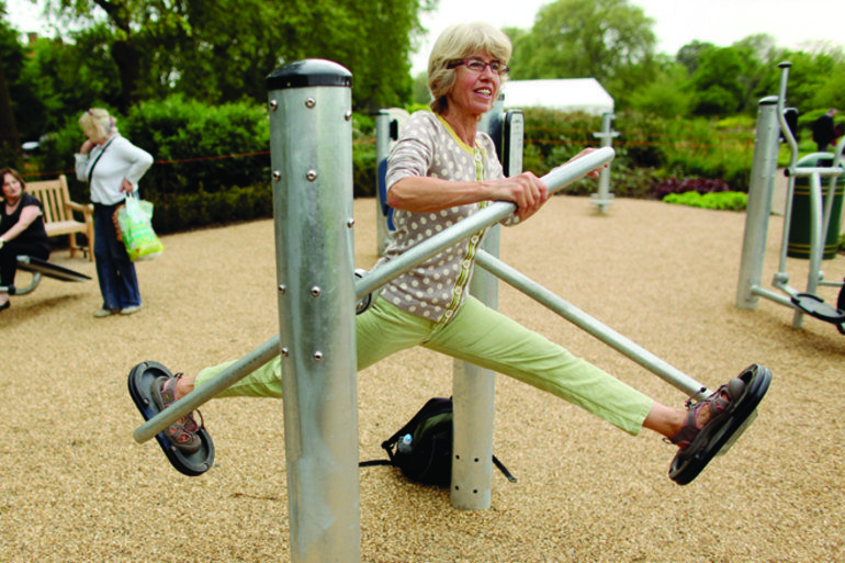 Playgrounds For Seniors Popping Up In U S The Parks Which Feature Low Impact Exercise Equipment Designed For No Equipment Workout Low Impact Workout Exercise