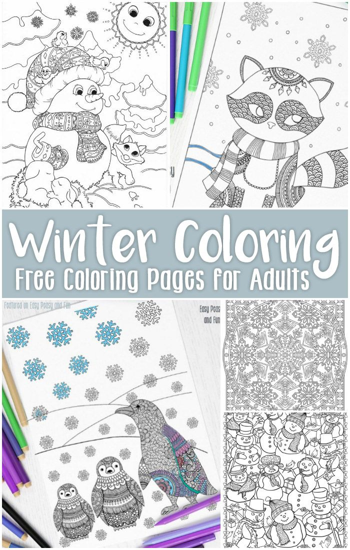 Free Printable Winter Coloring Pages for Adults | let\'s color ...