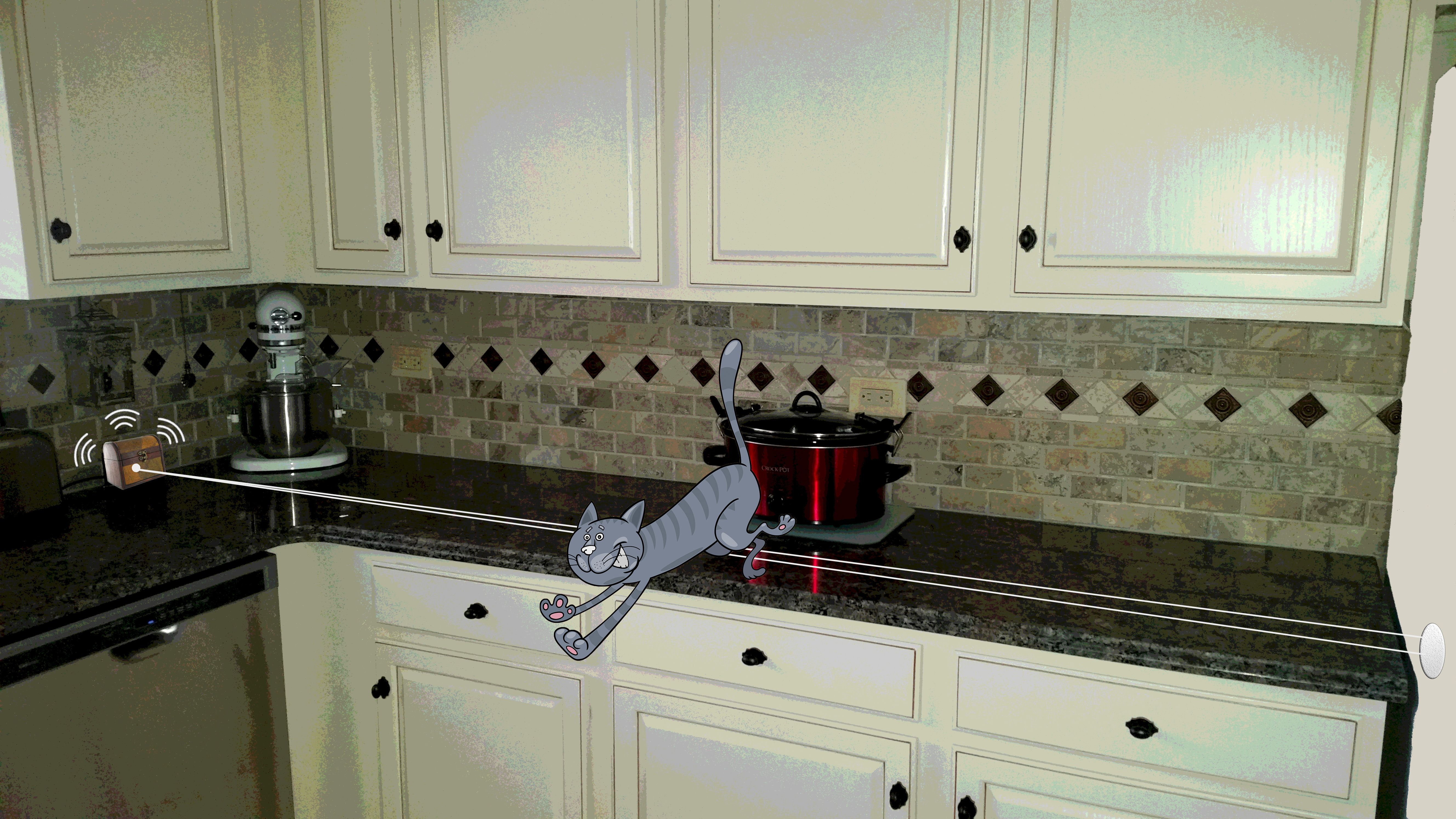 Keep Cats Off Your Counters With The New Cat Tail Counter Alarm