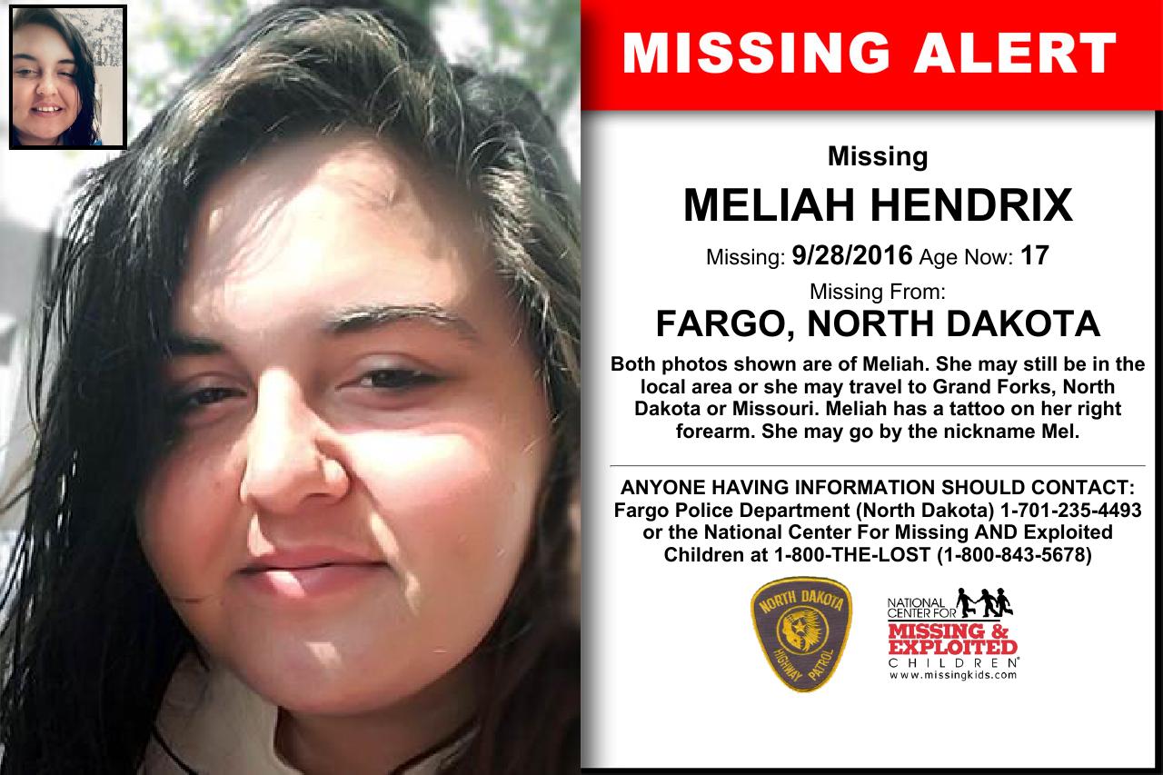 North Dakota Missing Persons 2016