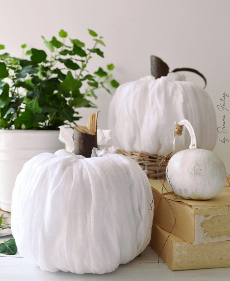 No Need To Spend A Fortune On These: DIY No-sew Fabric Pumpkins