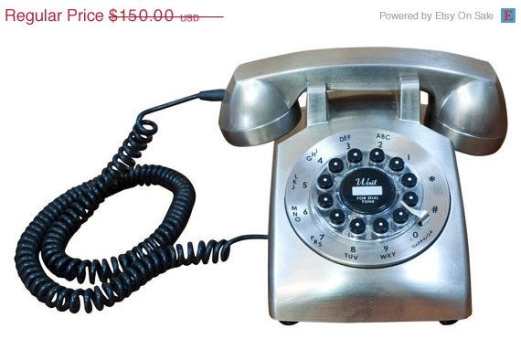 Retro Stainless Steel Push-Button Phone