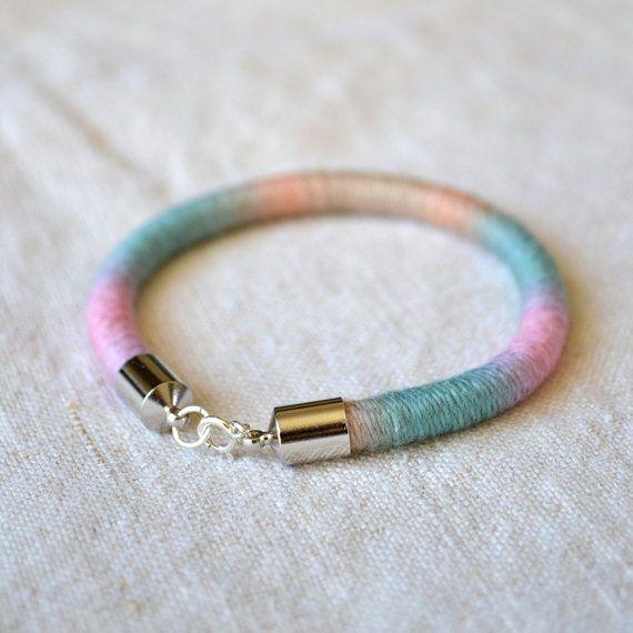 embroidery floss bracelet