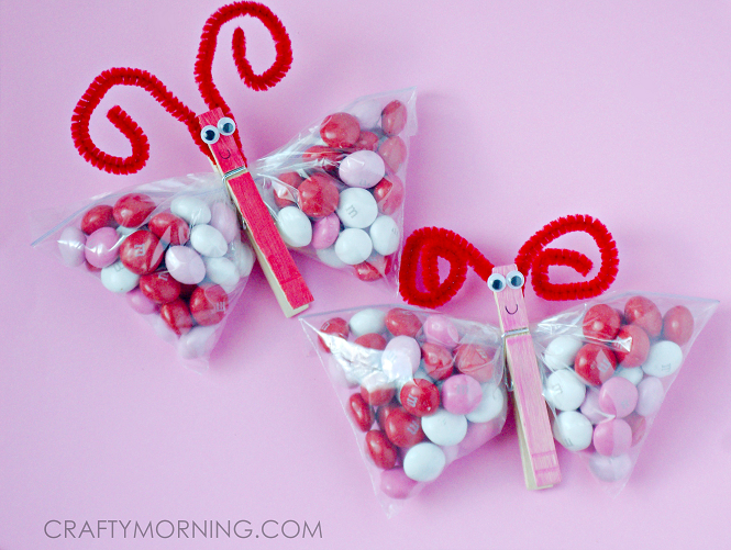Valentine\'s Day Snack Crafts for Kids | Pink jelly beans, Jelly ...