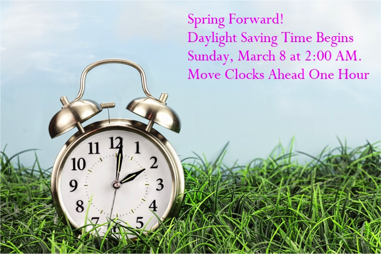 We Spring Forward On March 8 At 2 00 Am During This Time