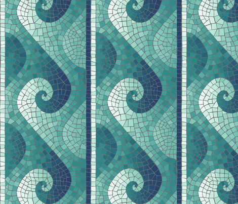 Colorful fabrics digitally printed by Spoonflower wave