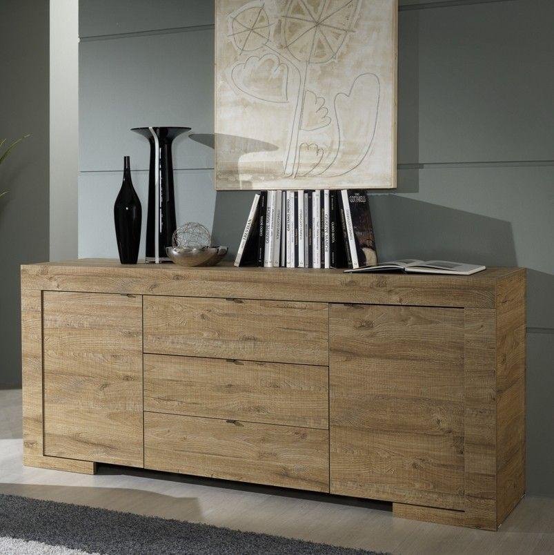 Madia iris per soggiorno e camera in legno laminato rovere for Mobili per il soggiorno moderni