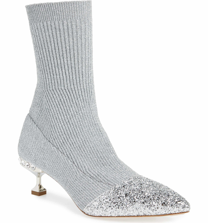 Miu Miu Women's Crystal Embellished Sock Bootie C83lhW
