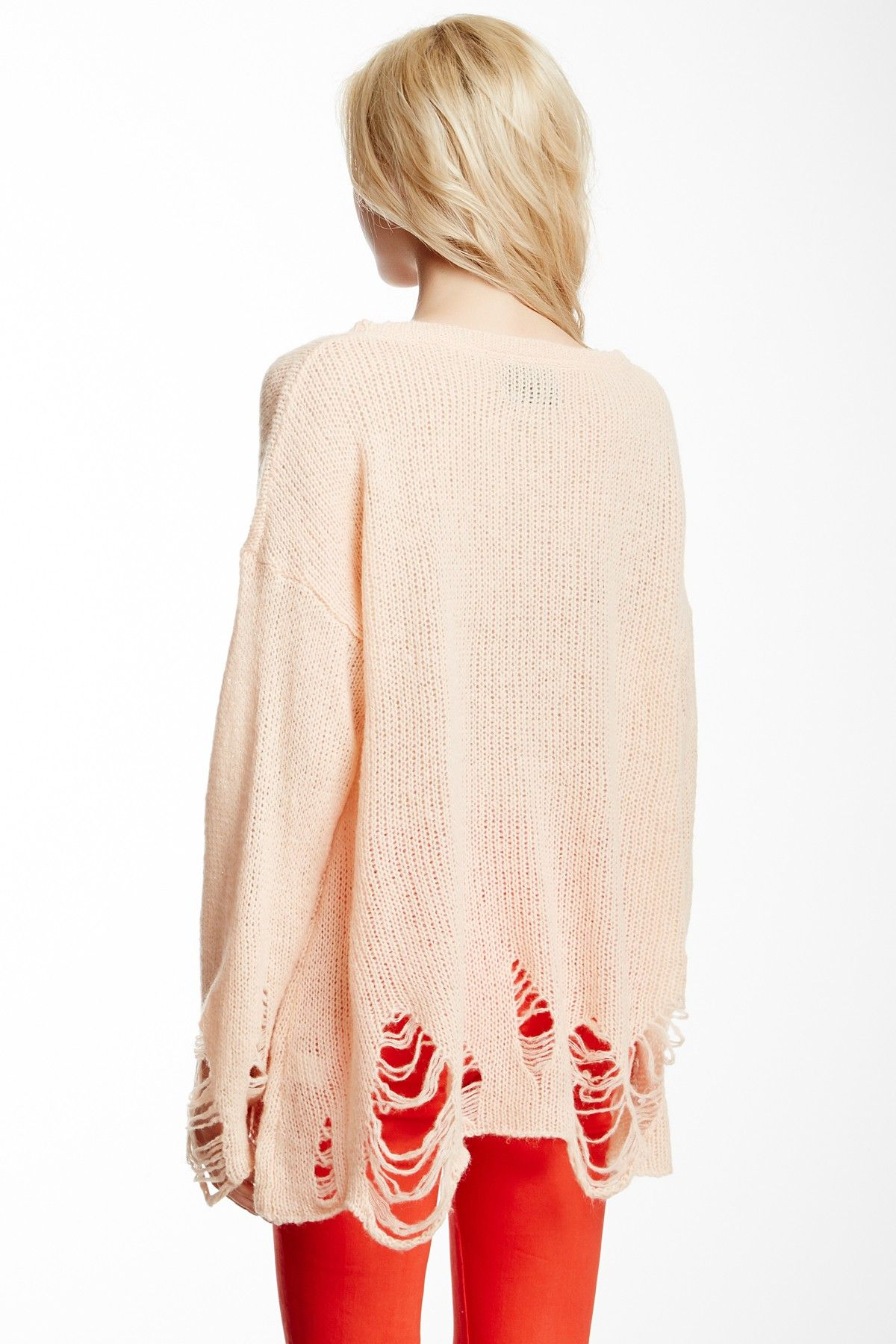 317ae8dd323 Distressed knit sweater - The Moment