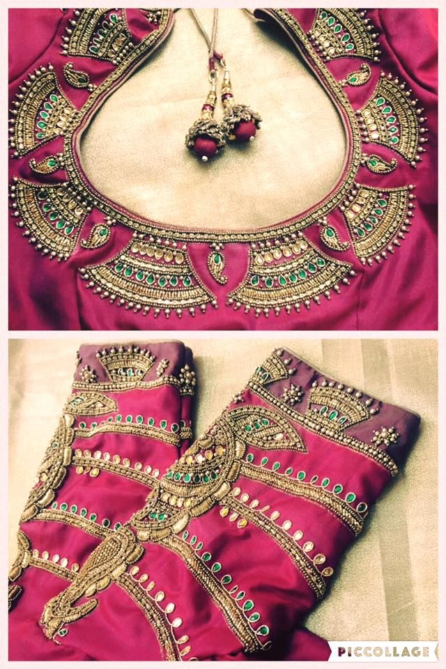 fc4b250b759ff4 11 Elbow Sleeve Designs For your Bridal Blouse