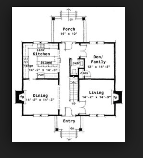 Pin By Amy Taylor On Floor Plans Colonial House Plans Colonial House Center Hall Colonial