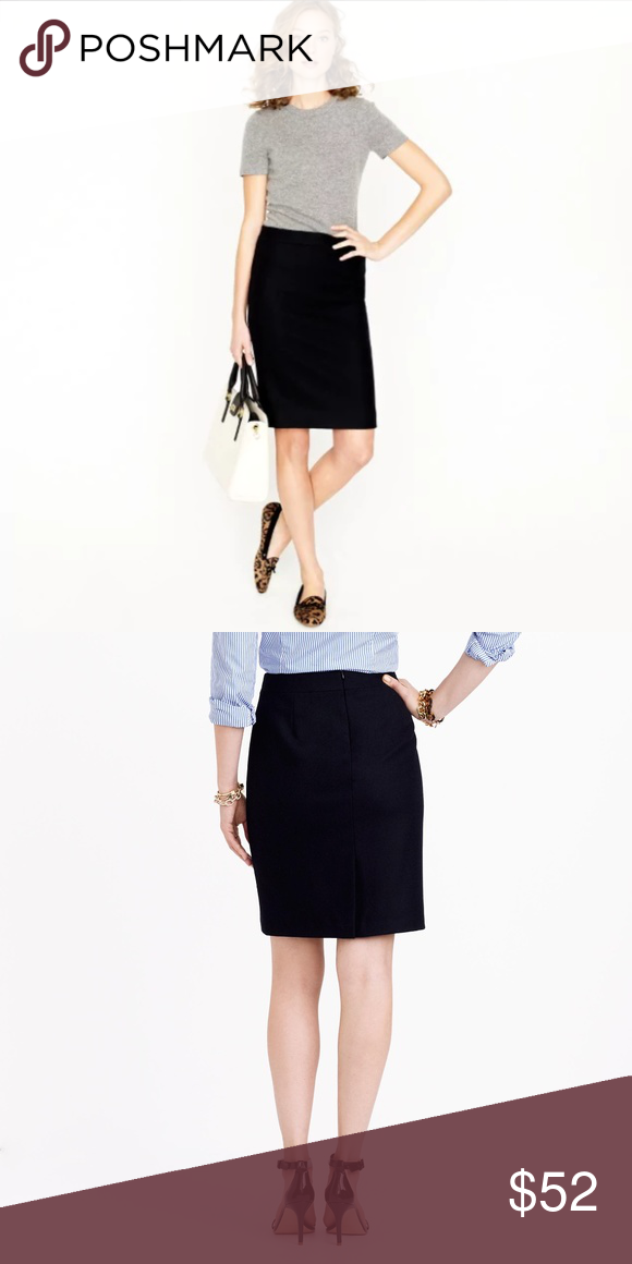 afad0d7450fe J. Crew No. 2 Pencil Skirt Two-Way Stretch NWT Beautiful and classic ...