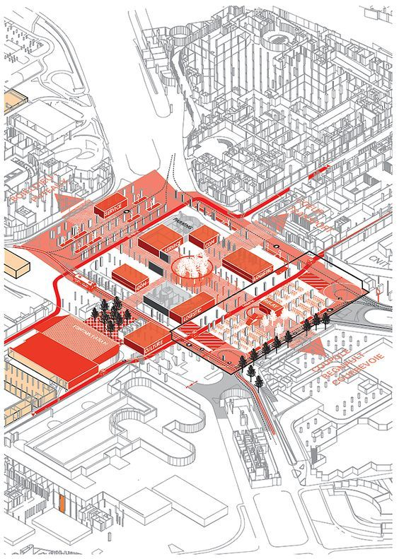 AXO_URB_Parisu0027 CBD La Défense Strategic Masterplan Masterplan - strategic plan