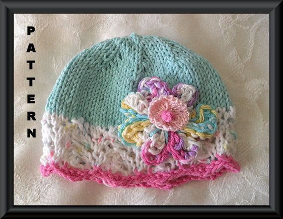 Knitting Pattern for a Baby Hat-Knitted Children Clothing Pattern ...