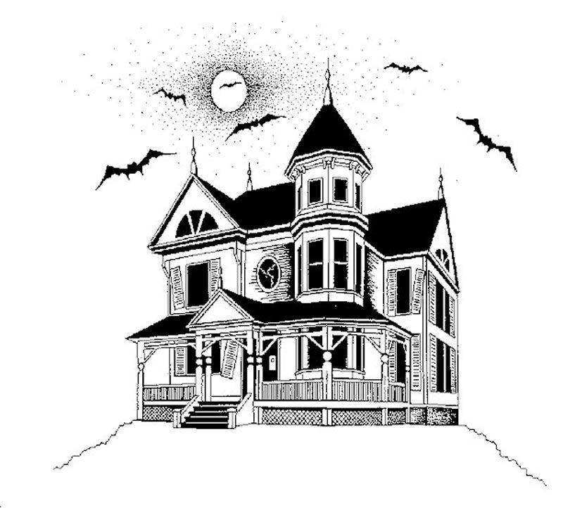 Haunted house drawing google search things i 39 m drawn for Pinterest haunted house