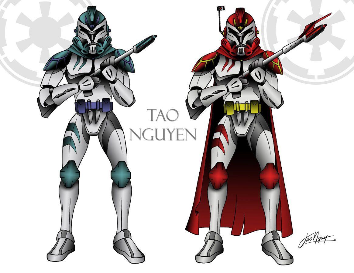 Tao Nguyen's New Storm Troopers Character Designs, Tao Nguyen on ArtStation at https://www.artstation.com/artwork/5d1qJ