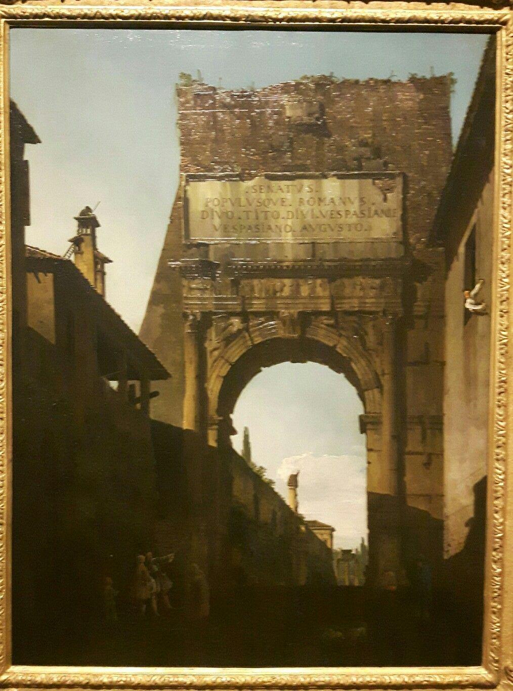 Arco di Tito a Roma collezione privata 1743 1744