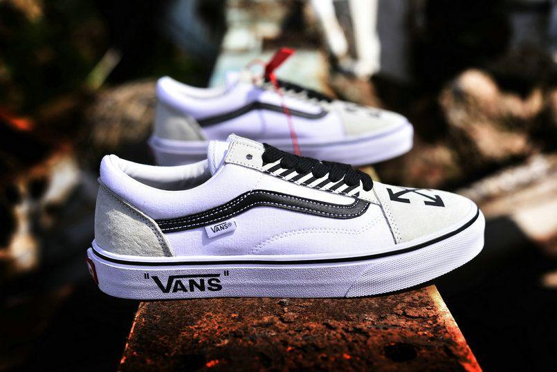 Retailmenot Coupon OFF WHITE x Vans Old Skool Willy AL06 Core White Black  Skate Shoe Vans For  Vans 21fa3dfbd