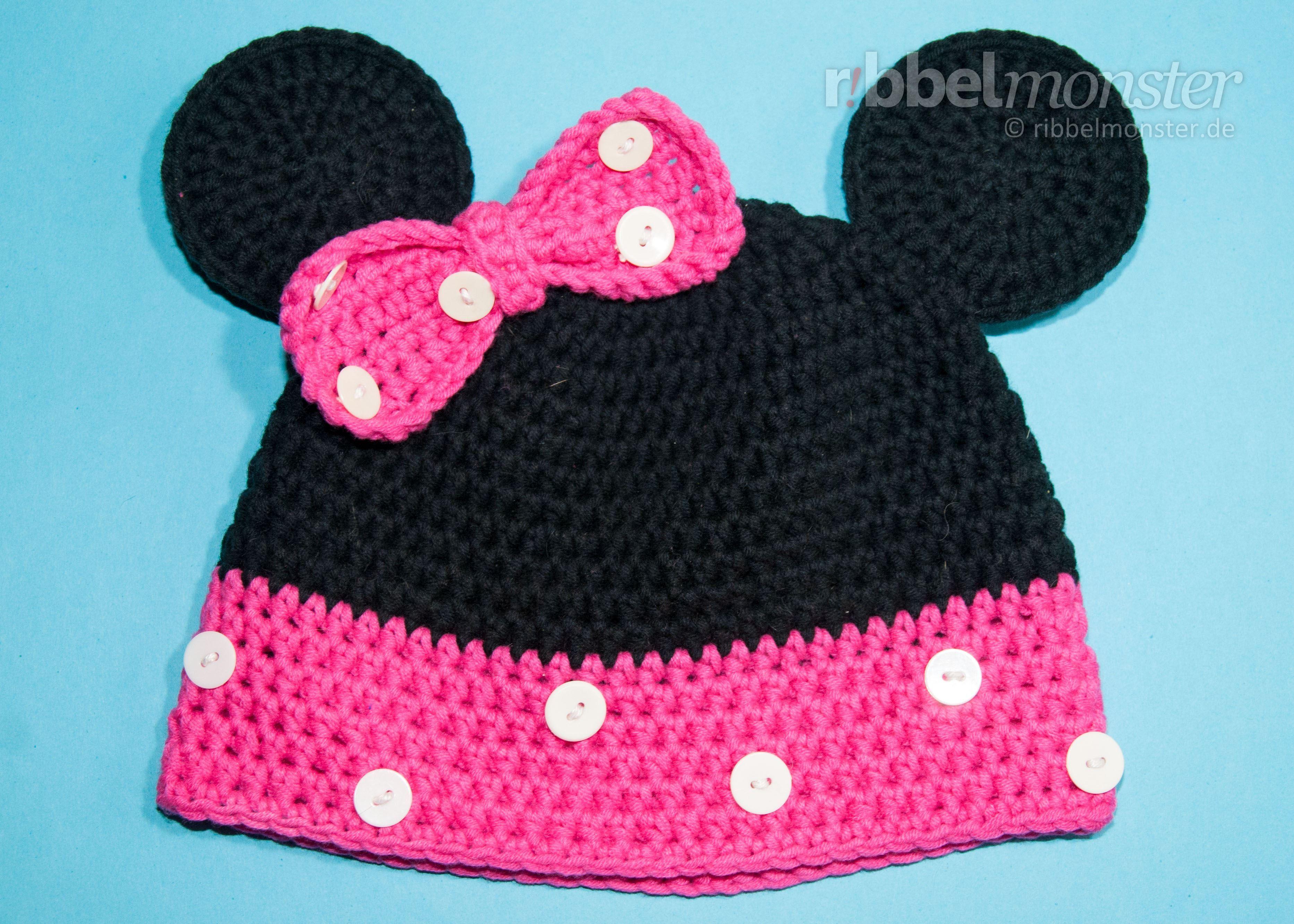 Diese Tolle Minnie Maus Mütze Häkelst Du Mit Dieser Kostenlosen