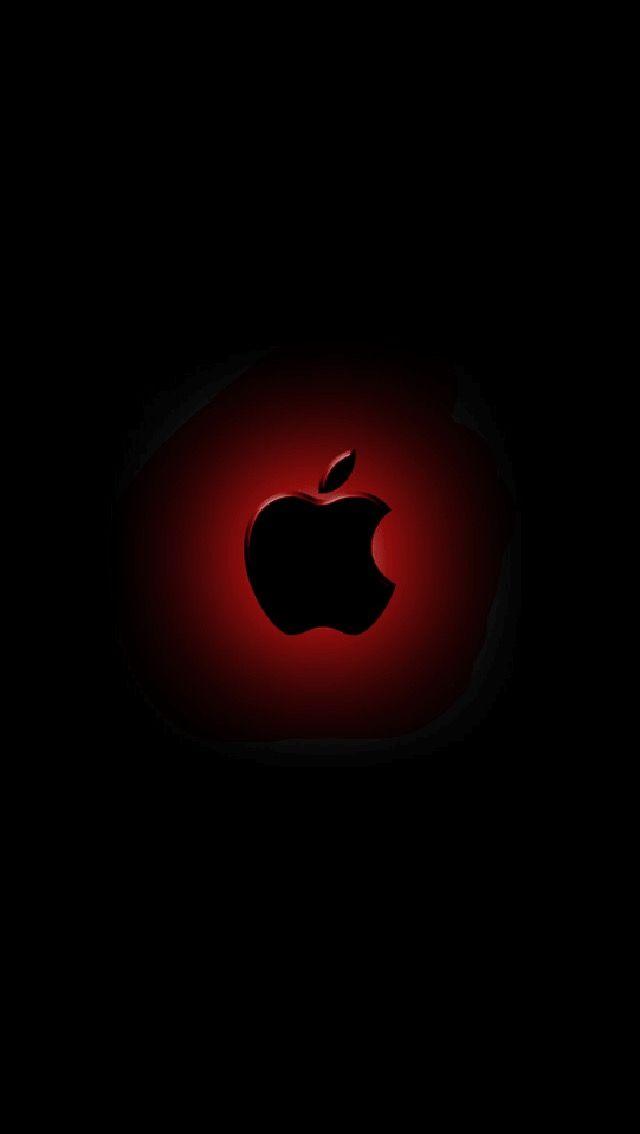 Apple Logo Black Wallpaper For Iphone 7