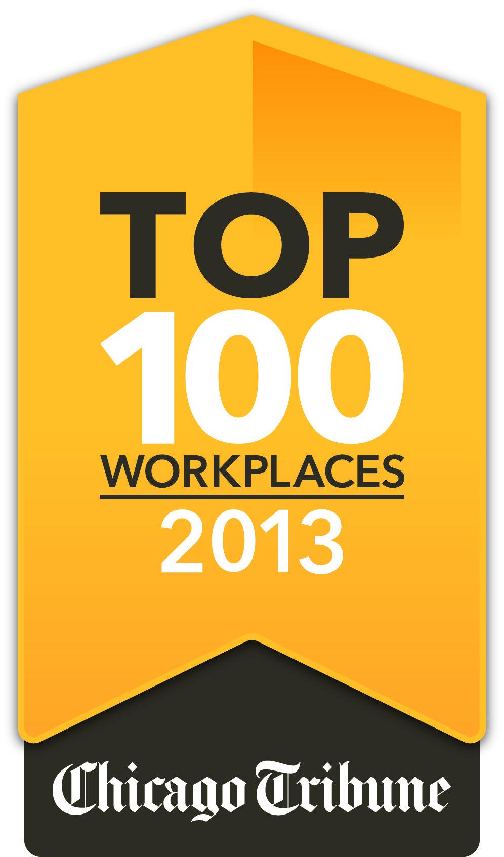 Chicago Tribune's Top 100 Workplaces 2013 winner