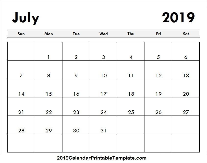 Pin by 2019Calendarprintabletemplate on July 2019 Calendar