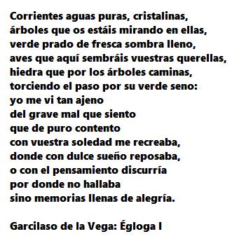 Locus Amoenus Garcilaso De La Vega égloga 1 Math Math Equations