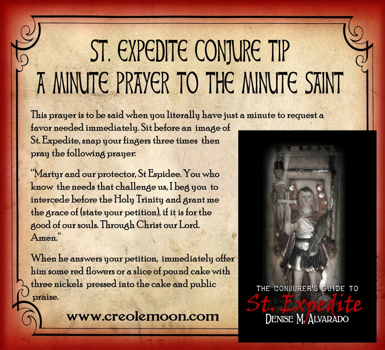The Conjurer's Guide to St  Expedite | st expedite | Voodoo