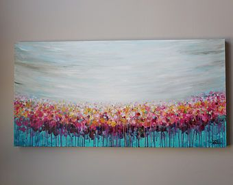 Acrylic Painting Abstract Art Flowers Painting Landscape