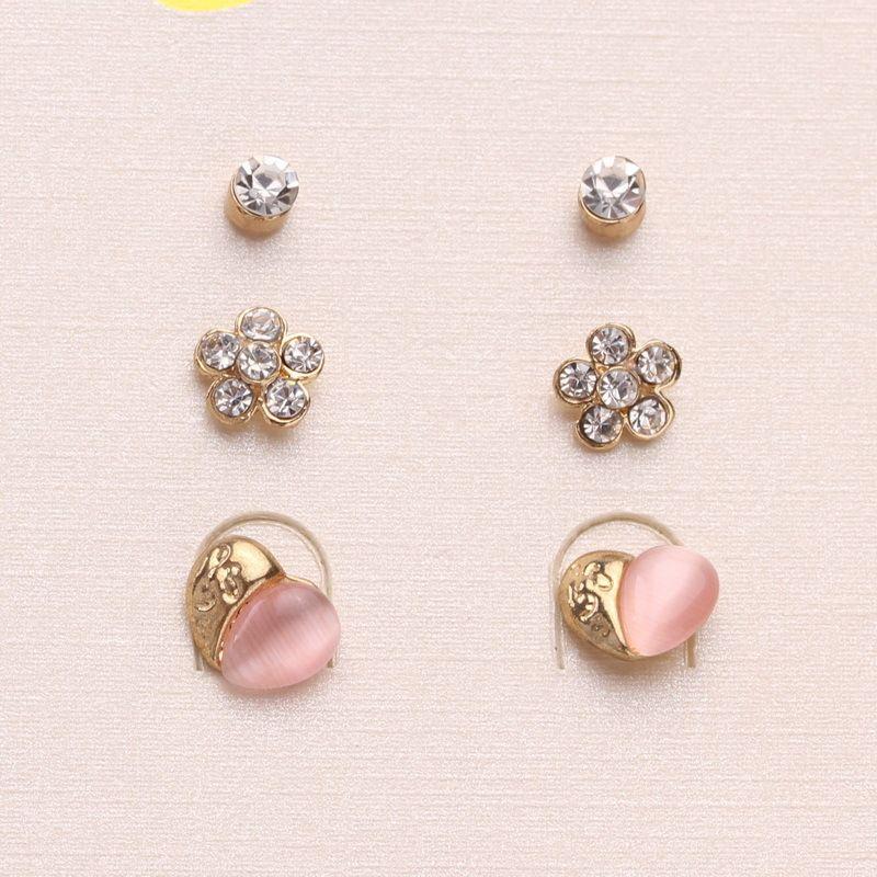 Free-Shipping-Korean-Jewelry-Cute-Small-Heart-flower- · Earrings For WomenFashion  EarringsStud ...