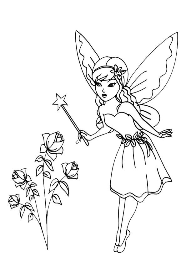Ausmalbilder Feen 09 Feen Fairy Coloring Fairy Coloring Pages