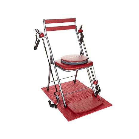 Chair Gym Exercise System With Twister Seat Mat And 5 Workout Dvds Hsn Gym Workouts Workout Dvds No Equipment Workout