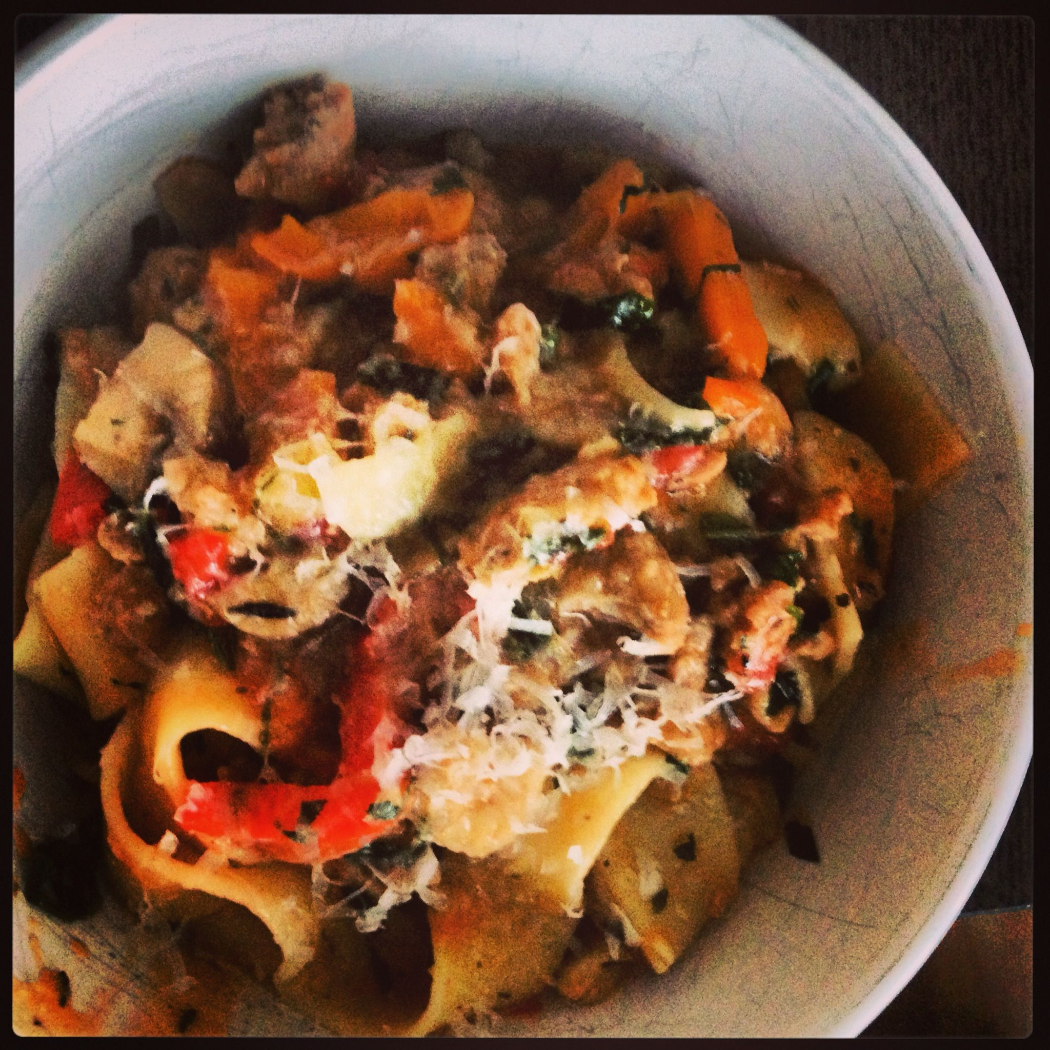 Italian sausage pappardelle