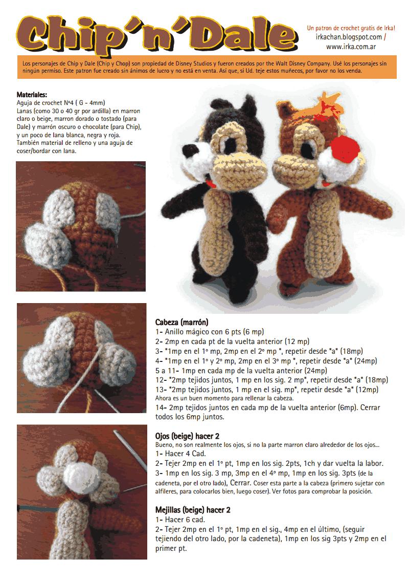 Chip and Dale crochet!! | Haken | Pinterest | Patrones amigurumi ...